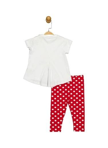 Minnie Mouse Lisanslı Bebek Takım 17357 Beyaz